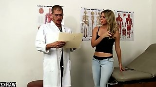 Kinky doctor fucks yummy wet pussy of sex-hungry patient Trisha Parks