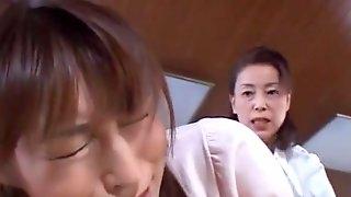Crazy Japanese slut Karen Kisaragi, Mari Aoi in Fabulous Cunnilingus JAV video