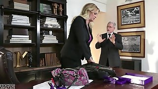 Buxom blond milf Stormy Daniels is cheating on her husband with his own son
