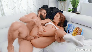 Cheating wife Alexis Fawx enjoys getting fucked at the end of one's tether a big dick dude