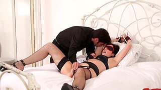 Blindfolded wife Dixie Comet loves being spanked during wild sexual congress